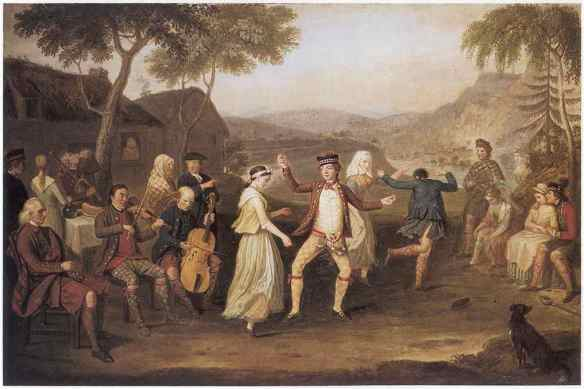 3. David Allan, The Highland Wedding at Blair Atholl (1780.jpg